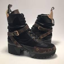 womens black combat boots size 11 shop s louis vuitton brown gold size 11 combat moto boots