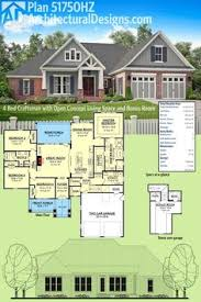 Open Concept House Plans Plan 51756hz 4 Bed Craftsman With Tapered Columns Craftsman