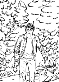 kids fun 25 coloring pages harry potter