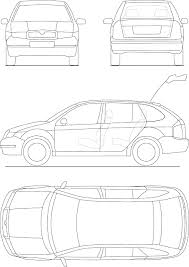 Car Interior Blueprints Free Vector Graphic Blueprint Automobile Technical Free Image