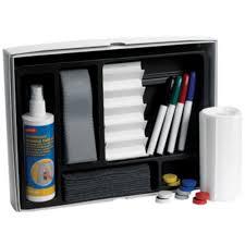 staples magnetic dry wipe whiteboard starter kit includes 7