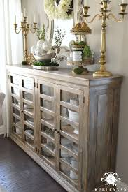 astonishing buffet table with glass top