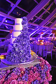 purple and white wedding city wedding at chicago planetarium with purple yellow palette
