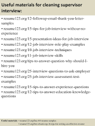 Cleaning Sample Resume by Top 8 Cleaning Supervisor Resume Samples