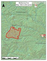 Wildfire Perimeter Map by Gila National Forest U2013 Mckenna Fire Update Nm Fire Info