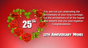 wishes 25 year with wishes happy 25th anniversary wishes for and wishes4lover