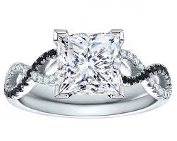 princess cut black engagement rings engagement ring princess cut black white infinity
