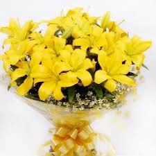 Yellow Lilies Send Exotic Yellow Lilies Bouquet In Delhi Ncr Order Online Today