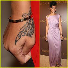 rihanna my new wrist tattoo is tribal rihanna just jared