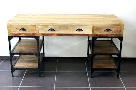bureau metal et bois bureau metal et bois grand etabli industriel bureau metal et bois