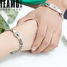 His And Hers Engraved Bracelets Teamo His And Hers Bracelets Lock And Key Bracelets Set For