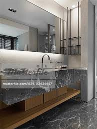 Modern Marble Bathroom Modern Marble Bathroom Stock Photo Masterfile Rights Managed