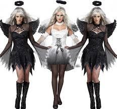 free size sale women black white devil costume halloween