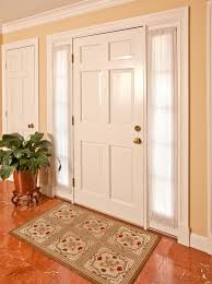 Curtains For Front Door Sidelight Curtains In Entry Traditional With Front Door With