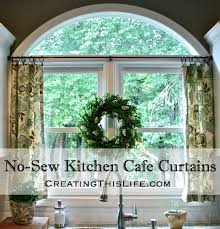 cafe curtains kitchen no sew kitchen café curtains creating this