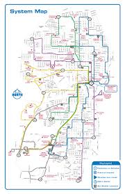 Metro Bus Routes Map by Sheboygan Area District Shoreline Metro