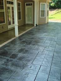 Seamless Stamped Concrete Pictures by Stained Porches And Stamped Patio In French Grey With Slate Green