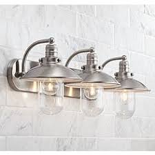 Bathroom Light Fixtures  Vanity Lights Lamps Plus - Bathroom vanity lighting brushed nickel