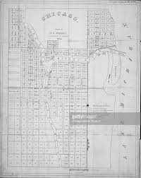 Map Of Chicago Il by 1834 Map Of Chicago Pictures Getty Images