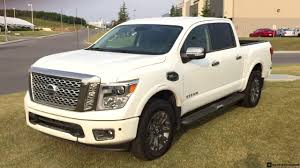 nissan platinum truck 2017 nissan titan platinum reserve crew cab in pearl white youtube