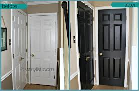 how paint a door painted black doors before and after classy painting interior