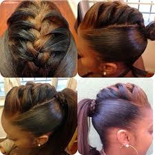 hair pony tail for african hair braided back ponytail hairstyle braids pinterest ponytail