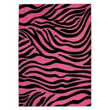 pink and black rug milliken zebra glam pink passion black white