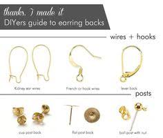 earrings with on backs types of earring backs for pierced ears a list of the types of