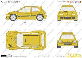 renault clio i maxi 1995 racing cars