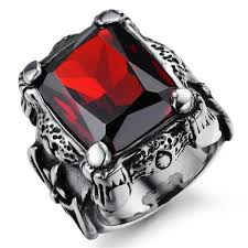 unique fashion rings images 2018 fashion brand design royal square ruby rings for men inlaid jpg