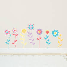 spring flowers printed wall decals