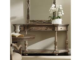 hooker furniture sorella demilune console with drop front center