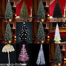 7ft christmas tree 4ft 5ft 6ft 7ft black white green led fibre optic christmas tree