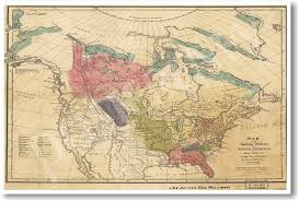 amazon com american history vintage map of native american
