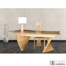 bureau en bois massif bureau de créateur haut de gamme bois massif essentia mobilia