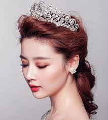 bridal crowns cinderella luxury empire princess rhinestone wedding crown