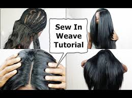 tutorial for black bonded weave hairstyles watch me do full sew in weave no leave out no glue tutorial