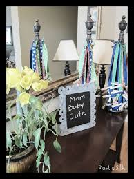 rustic silk baby shower decor and games