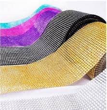 mesh ribbon table decorations 4 5 x 1yd mesh rhinestone crystal bling ribbon wrap table