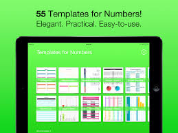 templates for numbers for ipad iphone ipod touch app ranking