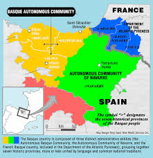 Map Of Spain And France by Basque Basics Basque Studies