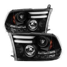 jeep commander black headlights spyder black drl bar projector led headlights 2009 2017 dodge