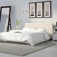 White Platform Bed Frame Modern Platform Beds Allmodern