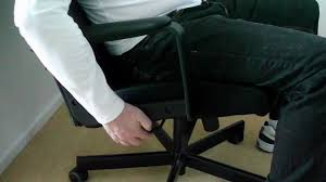 Ikea Rolling Chair by Ikea Malkolm Swivel Desk Office Chair Demo Youtube