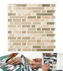 smart tiles bellagio sabbia 10 06 in w x 10 00 in h peel and