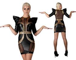 Futuristic Halloween Costume Gold Gown Slit Dress Futuristic Clothing Burning Man
