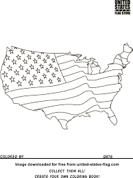 United States Map With State Names by Free American Flag Coloring Pages