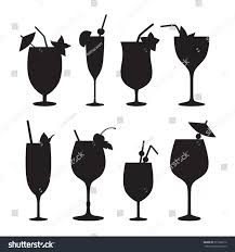 cocktail vector cocktail vector silhouettes stock vector 371920216 shutterstock