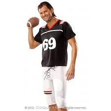 Mens Size Halloween Costumes Football Player 69 Mens Costume