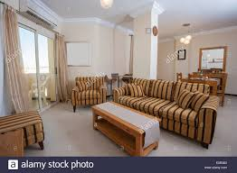 interior of show home living room showing interior design stock